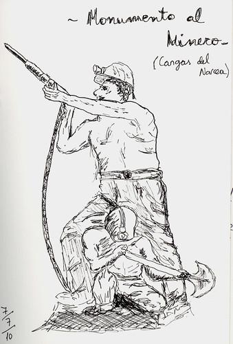 sketch-Monumento al Minero