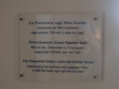 Photo of La Polveriera and Johann Wolfgang von Goethe clear plaque