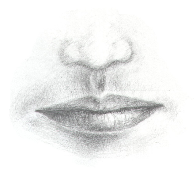 Nose drawings in pencil