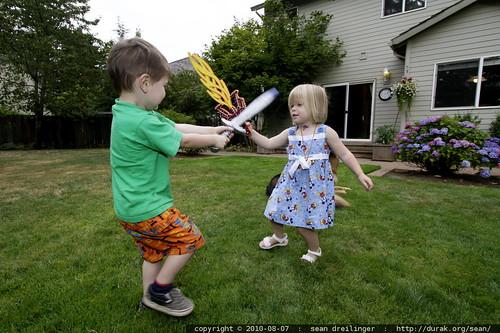 sword duel   sequoia vs. julia