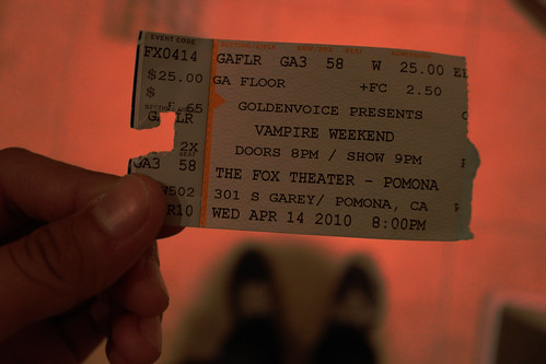 Vampire Weekend Ticket