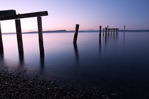 sunset mountain beach water night pier washington rocky pugetsound piling hansville pointnopoint