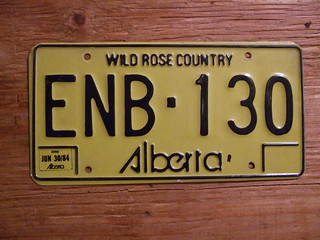 ALBERTA JUN30-84 ---PASSENGER with THREE MONTH STICKER ENB130