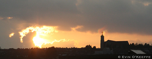 Sunset over Cork City