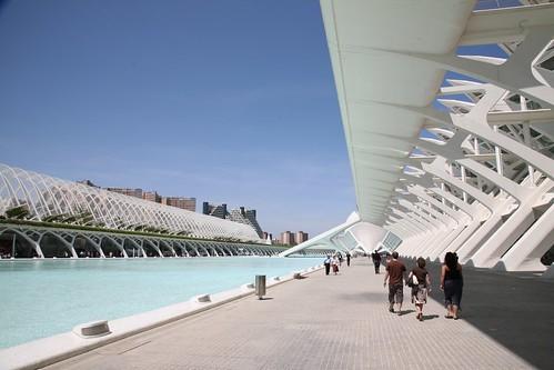 España, València : Ciudad de las Artes y las Ciencias, arch. Santiago Calatrava.