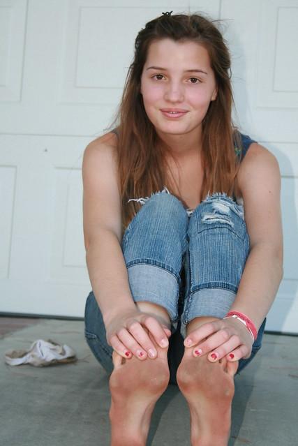 Can speak lick girls dirty sandals