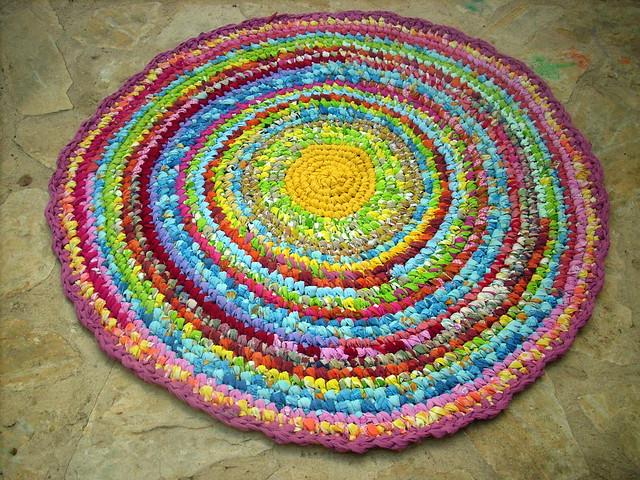 crocheted rag rug Flickr - Photo Sharing!