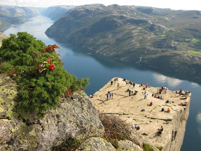 Preikestolen: el púlpito de roca, Lysefjord, Fiordo de Lyse, Noruega