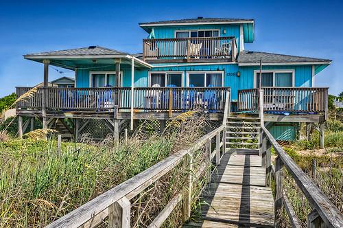 wood blue sky house architecture nc nikon dunes north bluesky deck carolina outerbanks emeraldisle hdr highdynamicrange sanddunes beachhouse d90 hdrphotography nikond90 highdynamicrangephotography aclearview
