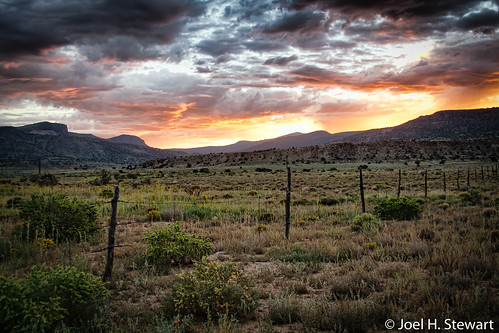 morning orange mountains newmexico field clouds sunrise fence landscape mt september taylor mesa lightroom