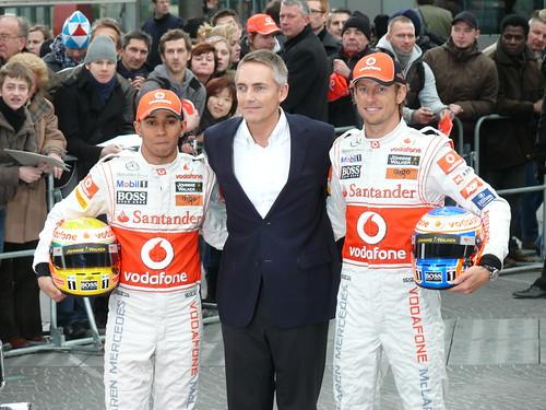 Martin Whitmarsh (McLaren-Teamchef) und seine Fahrer