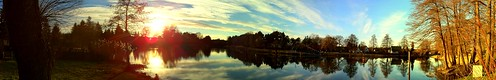 sunset sky autostitch panorama sun reflection tree water oneaday clouds germany deutschland canal wasser sonnenuntergang himmel wolken photoaday 365 kanal sonne bäume spiegelung pictureaday iphone project365 photo365 iphone4 friedrichwilhelmkanal groslindow brandenburb
