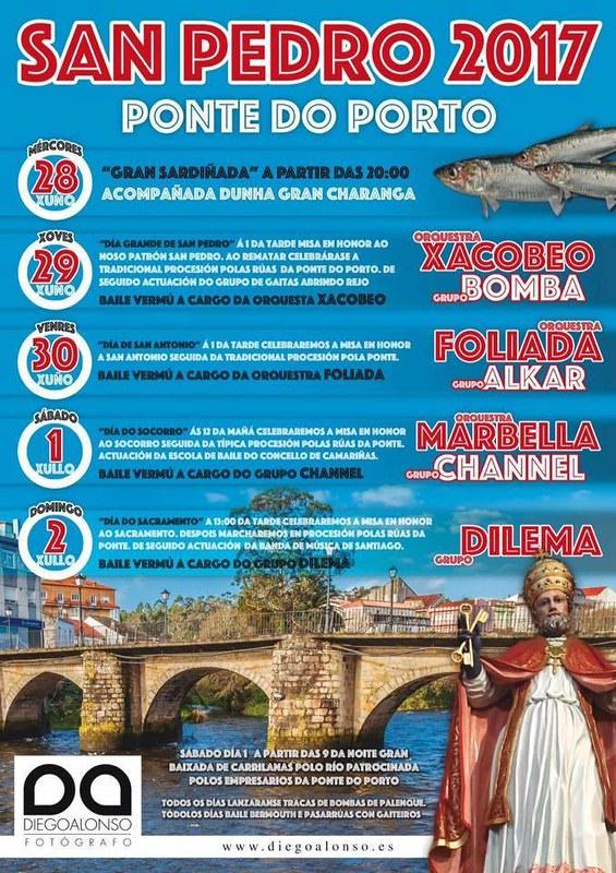 Camariñas 2017 - Festas de San Pedro na Ponte do Porto - cartel