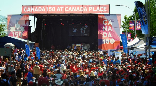 Canada 150 at Canada Place
