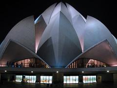 Baha'i House of Worship at night