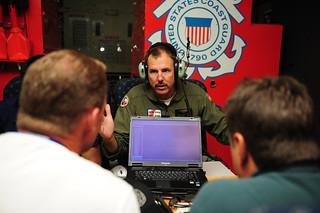 Senator Lee Constantine on Coast Guard C-130 Flight