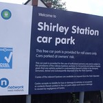Shirley Station, Haslucks Green Road, Shirley - Car park sign