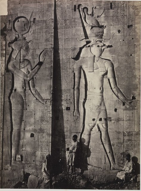 Sculptures in the Great Temple, Philae, by Francis Frith 1857