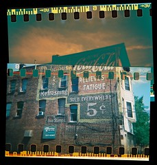 Coca-Cola Relieves Fatigue 5 cents - Schenectady, N.Y. - sprocket hole and layered film