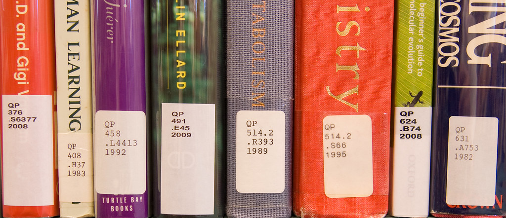 Call Numbers on Books (Library of Congress Classification)