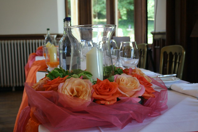 Photo for Orange centerpieces for tables