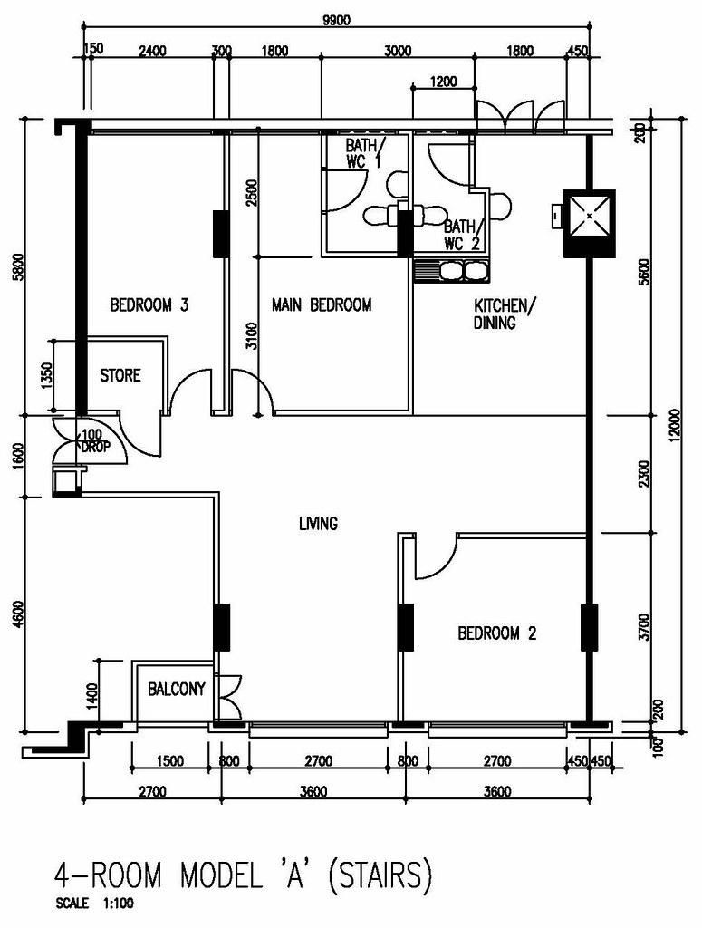 Hdb floor plan singapore real estate agent harry liu Hdb master bedroom toilet design