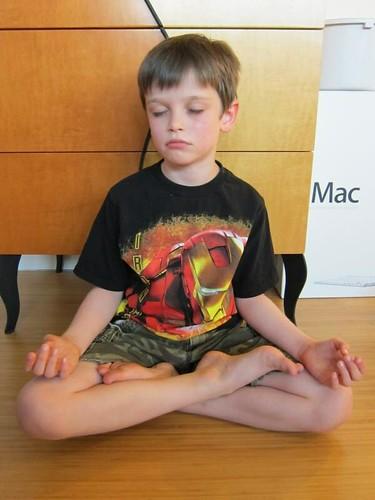 full lotus, yoga, young boy, ironman, camo IMG_1686