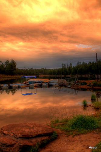 trees sunset sky lake southwest water clouds canon landscape az hdr woodscanyonlake 18135mm mongollonrim t1i