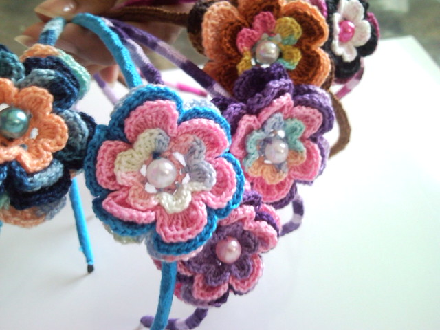 Cintillos de flores a crochet | Flickr - Photo Sharing!