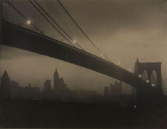 Nocturne, Brooklyn Bridge, by Karl Struss c.1912-13