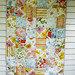 vintage sheet patchwork quilt. by CB Handmade