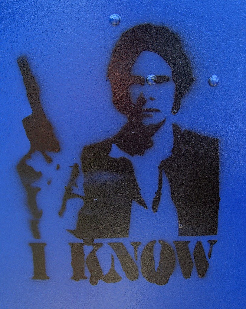 Han Solo street art with I Know