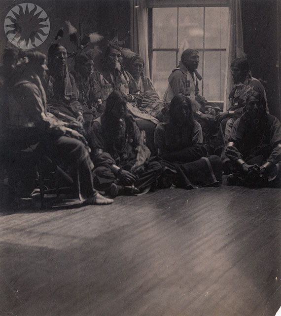 Native Americans with sitting near a window, 1898, by Gertrude Käsebier