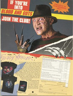 1987 Freddy Krueger fan club ad