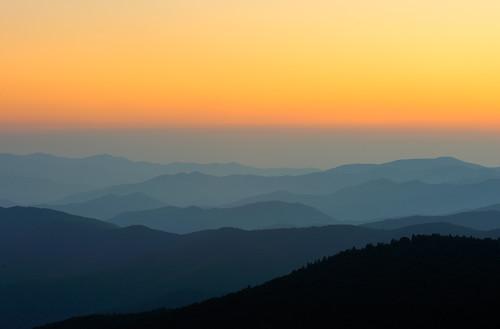sunset sun mountains nikon d3 clingmansdome gsmnp