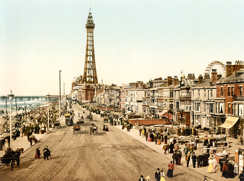 The promenade, Blackpool, Lancashire, England, ca. 1898