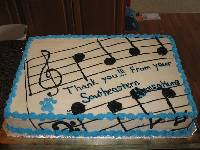 cake with musical notes