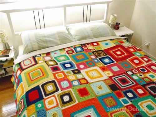 Crochet: Vivid Dreams Blanket Completed!