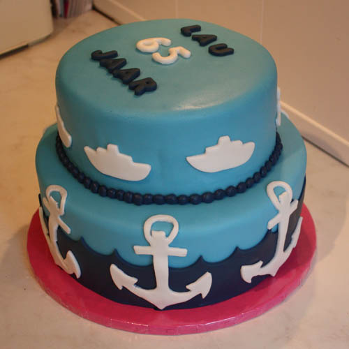 nautical themed birthday cakes