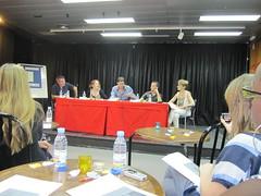 Mesa redonda poetas y artistas: Khaled Moussaoui, Marina Tapia, El Hassan Arabi, Luis Blanco Laserna, Ana Velasco.