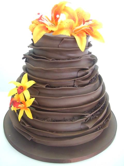 CAKE - Chocolate layer wedding