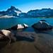 Small photo of Sunset at Thousand Island Lake