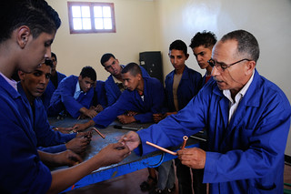 Students at a vocational education and training center