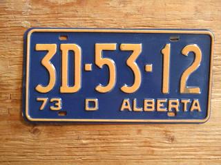 ALBERTA 1973 ---DEALER PLATE 3D5312