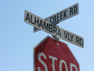 Intersection of Alhambra Valley Road and Bear Creek Road