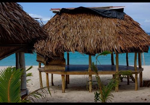 A fale at Faofao beach, Samoa