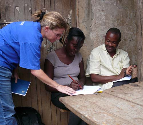 Master's student does survey work in Uganda
