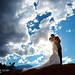 Bride and groom in the Garden of the Gods by Charlotte Geary Photography