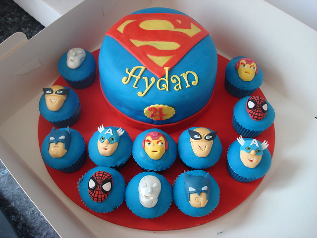 Birthday Superman Cake