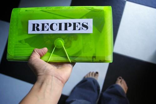 my new recipe folder